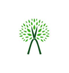 tree cutting service logo icon vector image