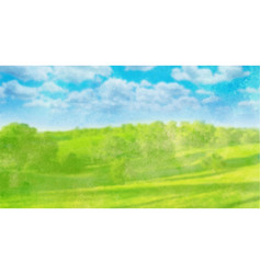 watercolor landscape on white vector image