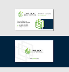 White business card 3d squares vector