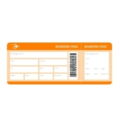 yellow boarding pass vector image