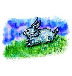 Rabbit Sketch2 vector image vector image