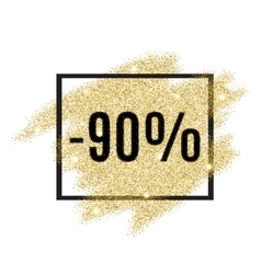 90 percent off discount promotion tag vector