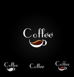 Coffee logo design template vector