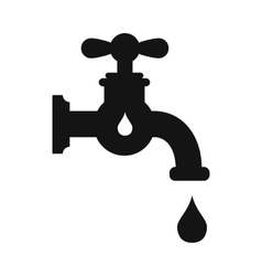 Save water simple icon vector