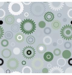 Seamless gear pattern vector image