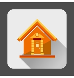Small house icon flat style vector image