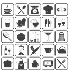 Basic Cooking Icons Set vector image vector image