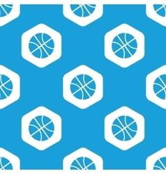 Basketball hexagon pattern vector image