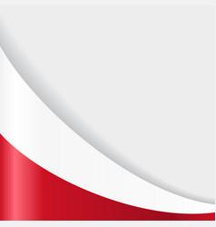 polish flag background vector image vector image