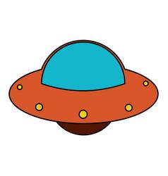 Ufo spaceship fly image vector