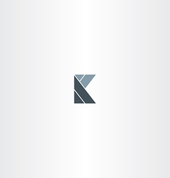 abstract letter k logotype sign stylized vector image vector image
