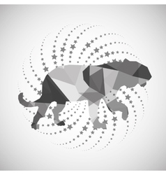 Animal design mosaic icon Isolated vector image vector image