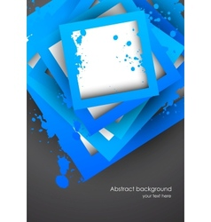 Background with blue grunge squares vector image vector image