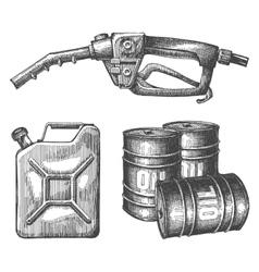 gasoline logo design template petroleum or vector image