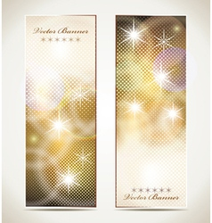 Greeting cards with stars and copy space vector image