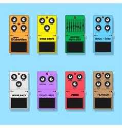 Guitar pedals vector