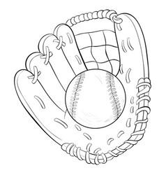 A children coloring bookpage cartoon baseball vector