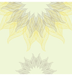 Abstract background with lacy flower vector image