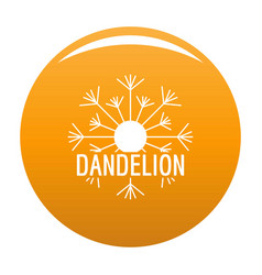 Aerial dandelion logo icon orange vector