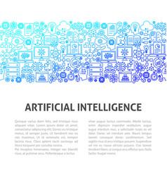 Artificial intelligence line design template vector