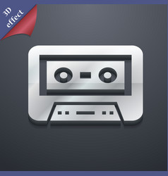 audiocassette icon symbol 3D style Trendy modern vector image