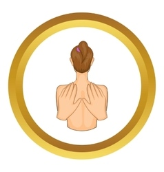 Back massage icon vector