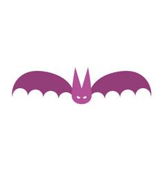 bat icon in flat design vector image