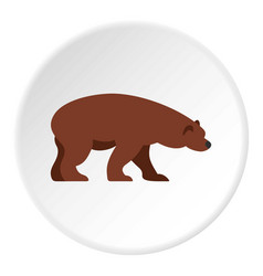 Bear icon circle vector