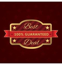 Best deal label vector image