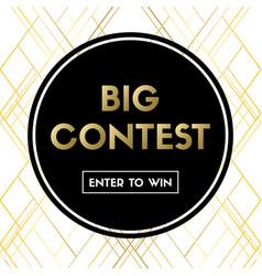 big contest banner for social media vector image