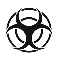 Biohazard sign round simple icon vector