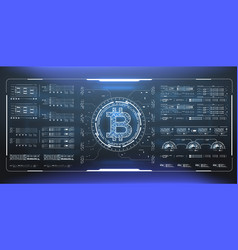 bitcoin technology abstract visualization vector image