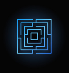 Blue labyrinth or maze icon vector