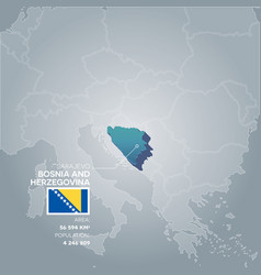 bosnia and herzegovina information map vector image