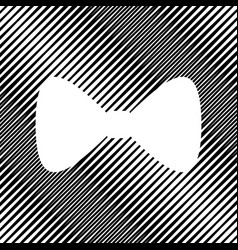 bow tie icon icon hole in moire vector image