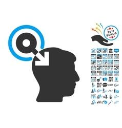 Brain Interface Plug-In Icon With 2017 Year Bonus vector