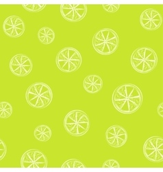 Bright green seamless background with lime citrus vector image