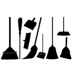 Brooms vector