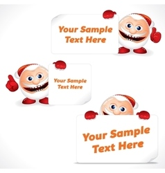 Cartoon Santa Claus with Blank Banner and Sign vector image