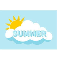 Cartoon Summer Background vector image