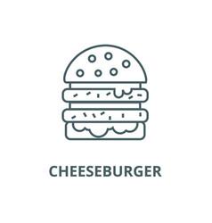 cheeseburger line icon cheeseburger vector image