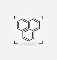 Chemical structure or formula icon in thin vector