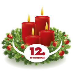 Christmas advent background vector