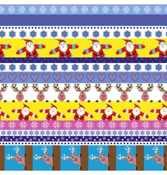 Christmas seamless pattern with Santa and reindeer vector image