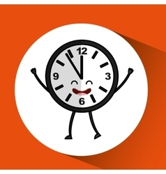 Clock character design vector