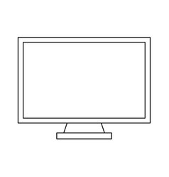 computer screen technology black and white vector image