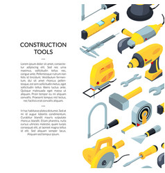 construction tools isometric icons vector image