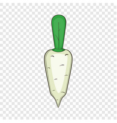 Daikon vegetable icon cartoon style vector