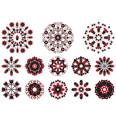 Decorative floral pattern motif flower vector image