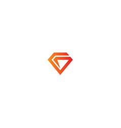 diamond initial company logo vector image